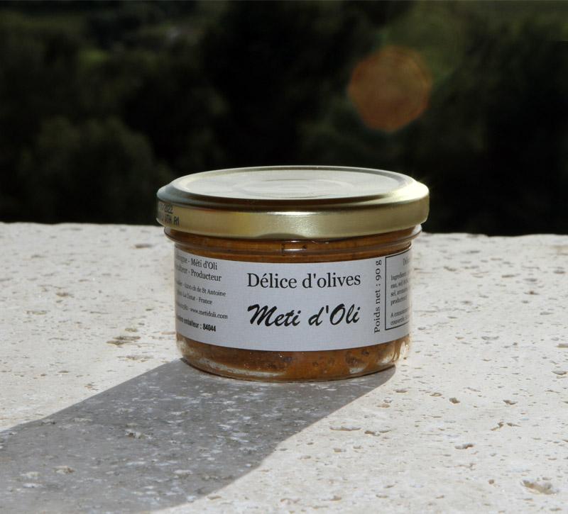 Délice d'olives vertes à la tomate Meti d'Oli