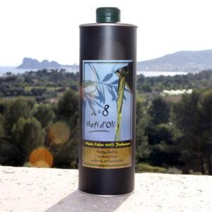 Meti d'Oli N°8 - 1 Litre - bouteille en métal
